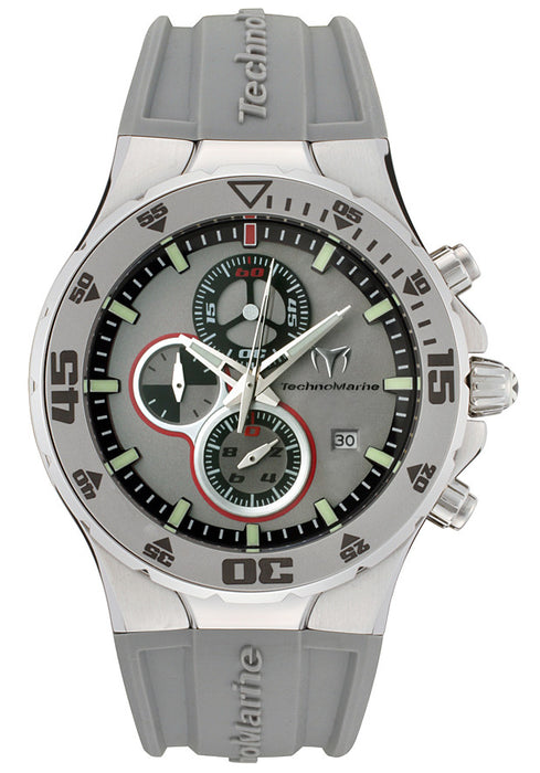 TechnoMarine Men's 208001 MoonSun Jubilee Ceramic Grey Rubber Watch