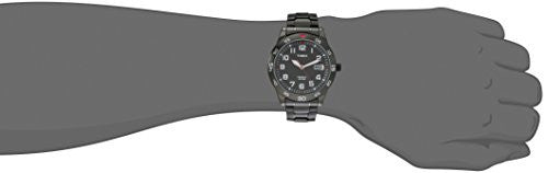 Timex Men's TW2P616009J Main Street Gunmetal-Tone Watch with Link Bracelet