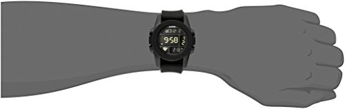 NIXON Men's A197-000 Silicone Digital Quartz Black Watch