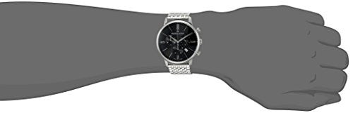 Maurice Lacroix Men's 'Eliros' Swiss Quartz Stainless Steel Casual Watch, Color:Silver-Toned (Model: EL1098-SS002-310-2)