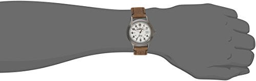 Timex Men's T49870 Expedition Metal Field Brown Leather Strap Watch