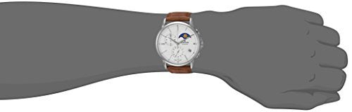 Edox Men's 'Les Bemonts' Swiss Quartz Stainless Steel and Leather Dress Watch, Color:Brown (Model: 01651 3 AIN)