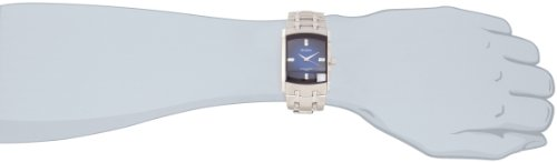 Armitron Men's 204507DBSV Stainless Steel Dress Watch with Swarovski Crystals