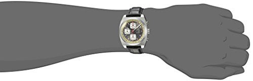 Zodiac Men's 'Seadragon' Swiss Automatic Stainless Steel and Leather Casual Watch, Color:Grey (Model: ZO9915)