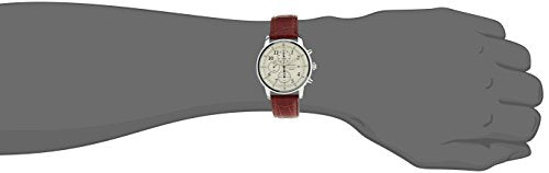 Seiko Men's SNDC31 Classic Stainless Steel Chronograph Watch with Brown Leather Band