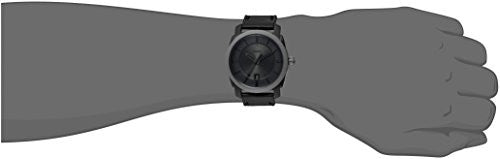 Fossil Men's FS5265 Machine Three-Hand Date Black Leather Watch