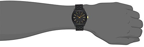 Nixon Time Teller Watch - Men's Matte Black/Gold Accent, One Size