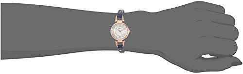 Fossil Women's Quartz Stainless Steel and Leather Watch, Color:Blue (Model: ES4026)