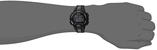 Timex Men's T5K793 Ironman Rugged 30 Full-Size Blackout Resin Strap Watch