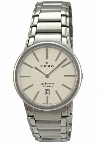 Edox Men's 27030 3 AIN Les Bemonts Round Ultra Slim Watch