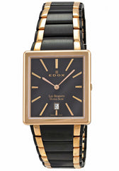 Edox Men's 27031 357RN NIR Les Bemonts Rectangular Ultra Slim Watch