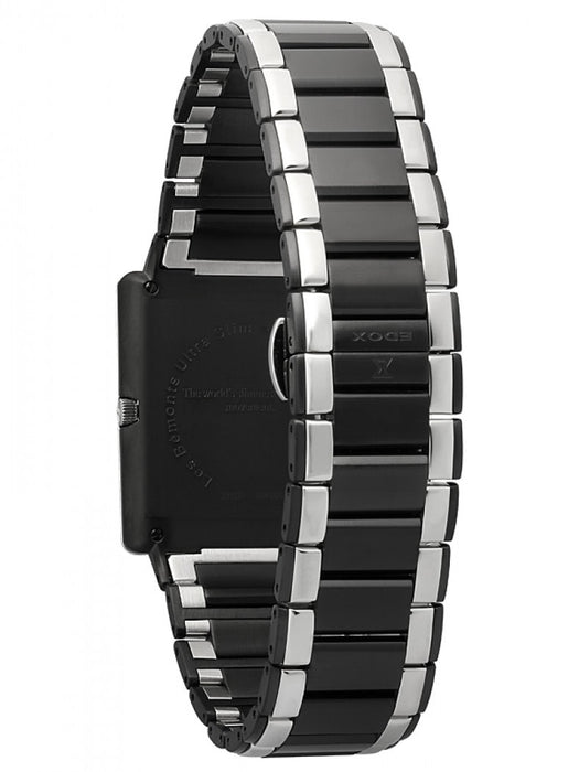 Edox Men's 27031 357N NIN Les Bemonts Rectangular Ultra Slim Watch