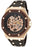Lucien Piccard Men's 28586ROBR Skelton Automatic Brown Rubber Watch