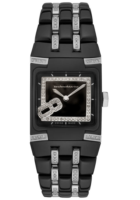 TechnoMarine Women's 308001 BlackSnow Mini Diamond Watch