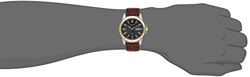 Seiko Men's SNE102 Stainless Steel Solar Watch with Brown Leather Strap