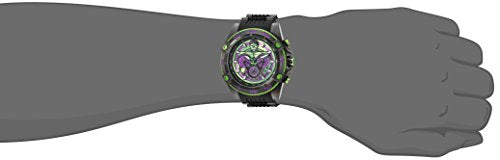 Invicta Men's 'Marvel' Quartz Stainless Steel and Silicone Watch, Color:Black (Model: 26808)