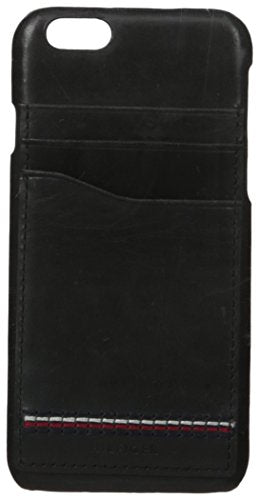 Tommy Hilfiger Men's Molded Iphone 6/6S Wallet Case, Black, One Size