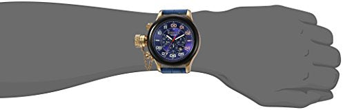 Invicta Men's 'Russian Diver' Quartz Stainless Steel and Leather Casual Watch, Color:Blue (Model: 22292)