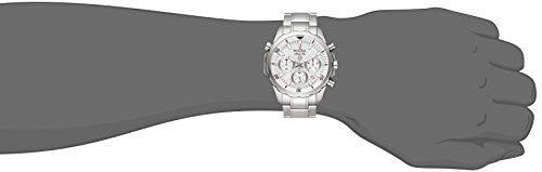Bulova Men's Quartz Stainless Steel Dress Watch, Color:Silver-Toned (Model: 96B255)