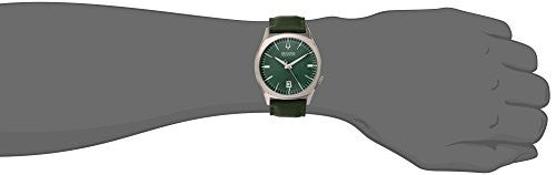 Bulova Men's 96B211 Accutron II Stainless Steel Watch with Green Leather Band