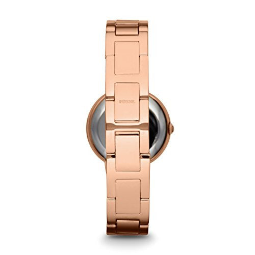 Fossil Women's ES3284 Virginia Crystal-Accented Rose Gold-Tone Stainless Steel Watch