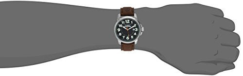 Timex Men's T44921 Expedition Metal Field Brown Leather Strap Watch