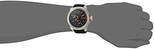 BOSS Orange Men's 'NEW YORK' Quartz Stainless Steel and Silicone Casual Watch, Color:Black (Model: 1513346)