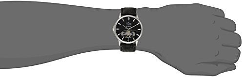 Edox Men's 85021 3 NIN Les Bemonts Stainless Steel Watch with Black Band