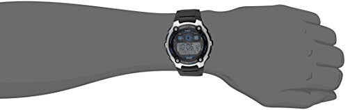 Casio Men's AE2000W-1AV Silver-Tone and Black Multi-Functional Digital Sport Watch