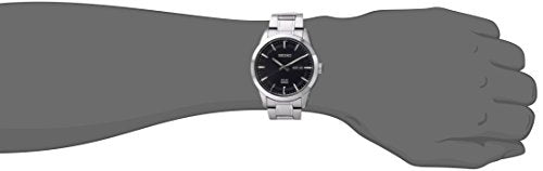 Seiko Men's SNE361 Analog Display Japanese Quartz Silver Watch