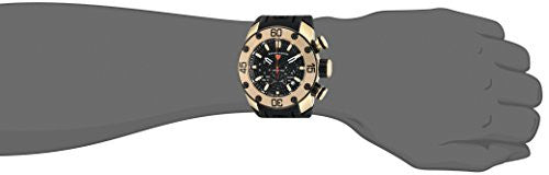 Swiss Legend Men's 'Lionpulse' Quartz Stainless Steel and Silicone Watch, Color:Black (Model: 10616SM-YG-01-BB)