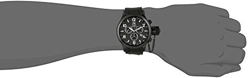 Invicta Men's 17819 Russian Diver Black Ion-Plated Stainless Steel Watch With Black Polyurethane Band