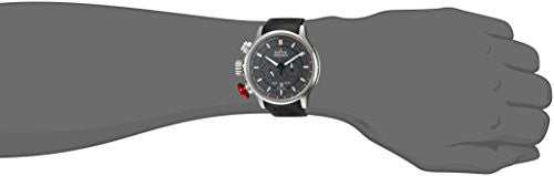 Edox Men's 'Chronorally' Swiss Quartz Stainless Steel and Rubber Sport Watch, Color:Black (Model: 10302 3 GR3)