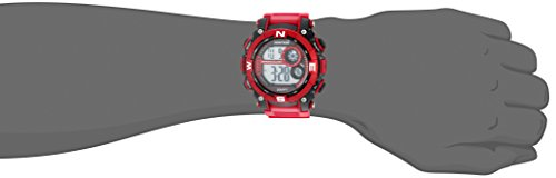 Armitron Sport Men's 40/8284RDBK Digital Chronograph Matte Red Resin Strap Watch