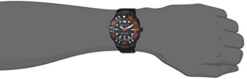 Technomarine Men's 'Reef' Quartz Stainless Steel and Silicone Casual Watch, Color:Black (Model: TM-515028)