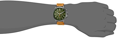 Timex Men's TW4B044009J Expedition Scout Chrono Tan/Green Leather Strap Watch