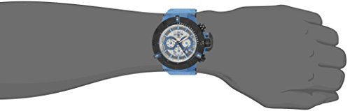 Invicta Men's 'Subaqua' Quartz Stainless Steel and Silicone Casual Watch, Color:Blue (Model: 24366)