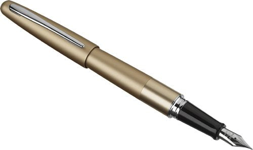 Pilot Metropolitan Collection Fountain Pen, Gold Barrel, Classic Design, Fine Nib, Black Ink (91112)
