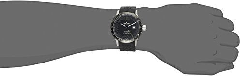 Edox Men's 80094 3N NV Chronorally 1 Stainless Steel Watch with Black Band
