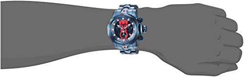 Invicta Men's 'Marvel' Quartz Stainless Steel Casual Watch, Color:Blue (Model: 26064)