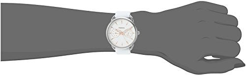Fossil Women's 'Tailor' Quartz Stainless Steel and Silicone Casual Watch, Color:White (Model: ES4223)