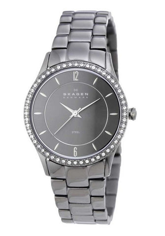 Skagen Ladies Watch 347SMXM with Grey Stainless Steel Bracelet and Grey Dial