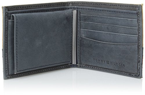 Tommy Hilfiger Men's Exeter Passcase Billfold,Khaki,One Size
