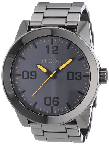 NIXON Men's Quartz Stainless Steel Casual Watch, Color:Grey (Model: A346-1235)