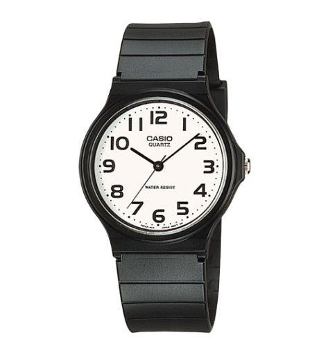 Casio Men's MQ24-7B2 Analog Watch with Black Resin Band