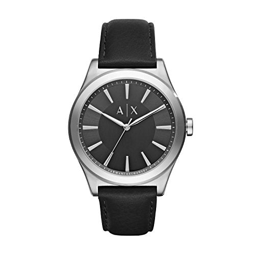 Armani Exchange Men's AX2323 Black  Leather Watch