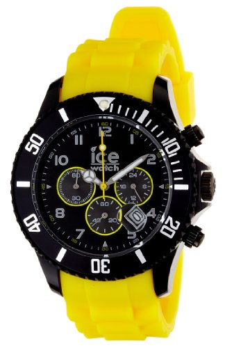 Ice-Watch Chronograph Yellow Polycarbonate Mens Watch ECHBYBS10