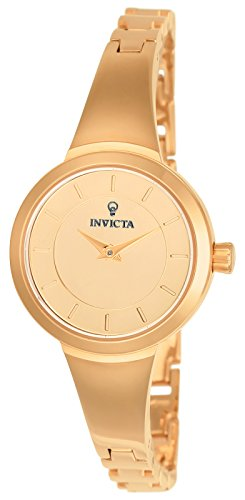 Invicta Women's 'Gabrielle Union' Quartz Stainless Steel Casual Watch, Color:Rose Gold-Toned (Model: 23318)