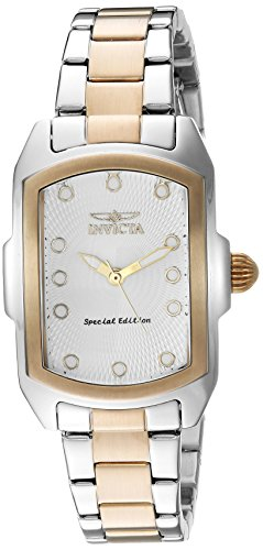 Invicta Women's 'Lupah' Quartz Stainless Steel Casual Watch, Color:Two Tone (Model: 16285)
