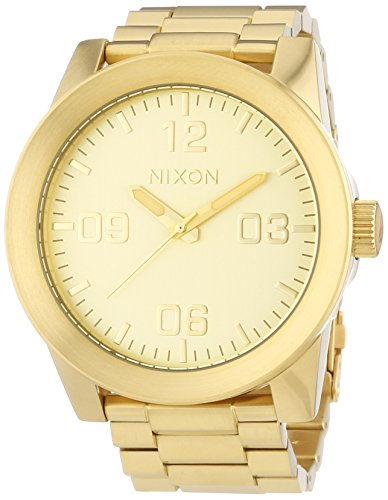 Nixon Gold Dial Stainless Steel Quartz Men's Watch A346-502